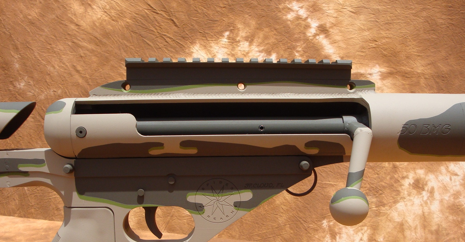 The Ferret50 50BMG rifle conversion for the AR-15